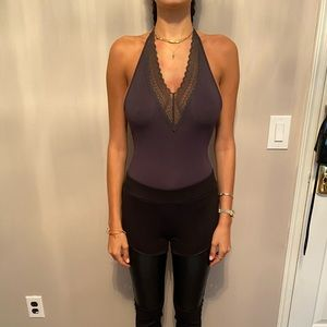 Gray bodysuit